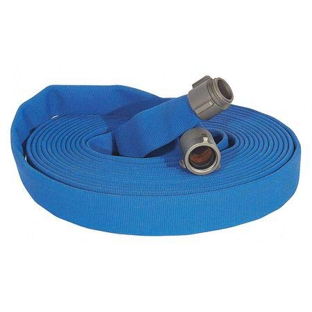 Attack Line Fire Hose, 100 ft. L, Blue