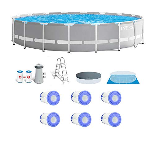 Intex Prism Frame Above Ground Pool Set w/Type A Replacement Filters (6 Pack)