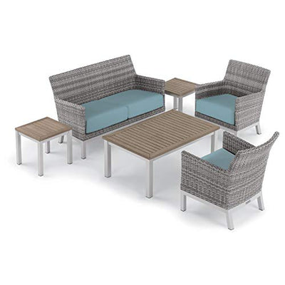 Oxford Garden 5489 Argento & Travira Furniture Set, Powder Coat Flint