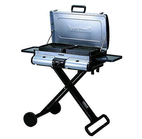 "IWATANI CORPORATION OF AMERICA G-Station Portable BBQ Grill Station, 40.55 by 20.87 by 47.64"", Silver"