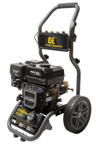 BE Pressure BE317RAS Gas Powered Pressure Washer, R210, 3100PSI, 2.3 GPM