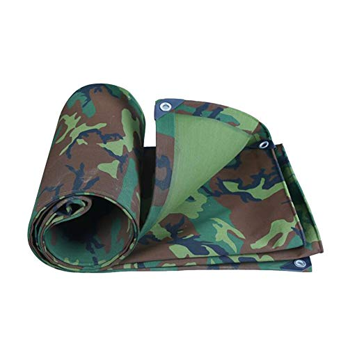 Dall Tarpaulin Heavy Duty Camouflage Tarp Waterproof 500g/m2 Rainproof Outdoor Dustproof Fishing Camping (Color : Green, Size : 6×8m)