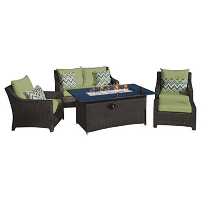 RST Brands Deco 5 Piece Love and Club Fire Set, Ginkgo Green