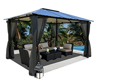 Paragon-Outdoor GZ3584K Durham Gazebo, Grey