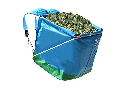Zenport AG418-4PK Picking Backpack AG418 Box of 4, AgriKon Vegetable Harvest Bac, Blue