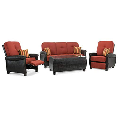 La-Z-Boy Outdoor ABRE-4PC-RC-R Outdoor Furniture Set, Brick Red