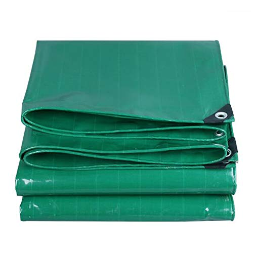 Dall Tarpaulin Waterproof Heavy Duty Thick 0.45mm Outdoor Sunshade Rain Cloth Cold Resistant Wear Resistant Protective Cover (Color : Green, Size : 6×8m)