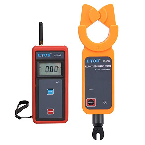 XINXI-MAO Safe Meter Test Data Wireless Transmission Digital Ammeter with High/Low Voltage AC Leakage Current Clamp Meter ETCR9000B Practical Meter