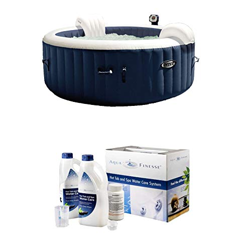 Intex Pure Spa 4-Person Inflatable Hot Tub | Dichlor Tablets Water Care Kit