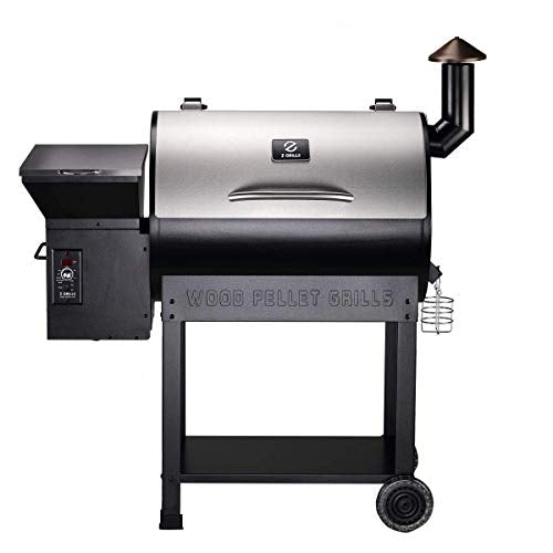 Z GRILLS Wood Pellet Smoker 7 in 1- Electric Digital Controls Grill for Outdoor BBQ Smoke 700 SQ in 20LB Hopper-(ZPG-7002E)