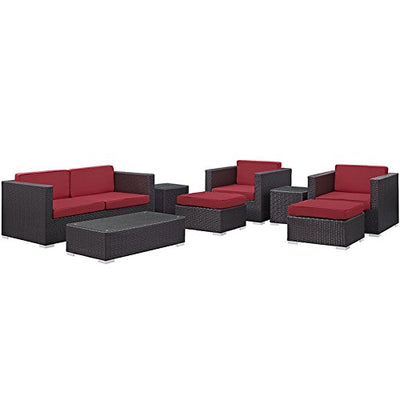 Modway Boltonic 8 Piece Outdoor Patio Sofa Set WL-04852-MW