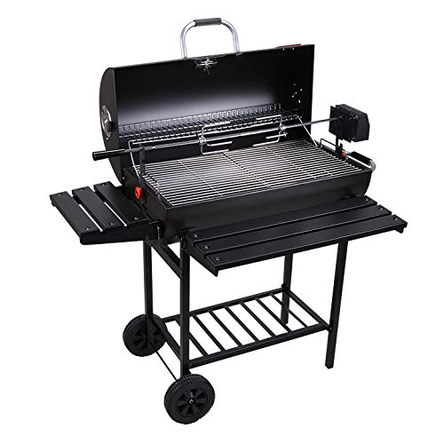 - Charcoal Trolley BBQCharcoal Trolley BBQ, Smoker Barbecue Charcoal Portable BBQ Grill Garden Outdoor Cooking Enamelled Charcoal BBQ with Wheels