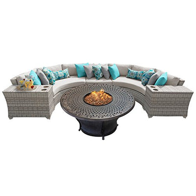 TK Classics FAIRMONT-06i 6 Piece Outdoor Wicker Patio Furniture Set