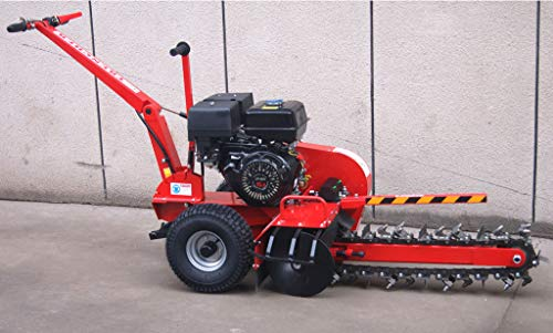 "Samson Machinery 15HP Gas Powered Trencher Walk Behind Trench Digger 24"" Depth 27 Tooth"