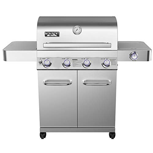 Rotisserie Grill Stainless Steel Machine 4 Steps of Burner Propane Gas for Commercial and Household