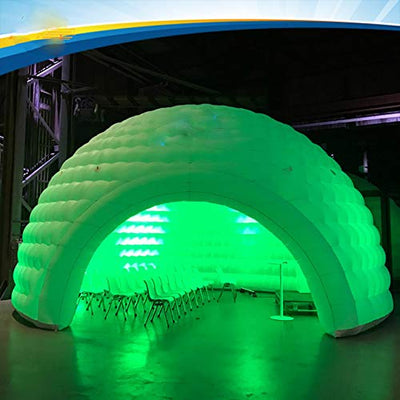Foammaker 26 x 16 feet Inflatable Multi-Functional Indoor Outdoor Igloo Tent with LED Lights (8 × 5 m)