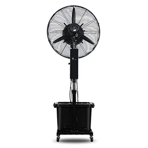 Electric Oscillating Fan Spray Air Circulator Metal Silent Floor Standing Quality Space-Saving 3 Wind Modes Simple and Easy to Assemble