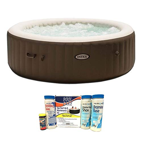 Intex Pure Spa 6 Person Inflatable Jet Massage Heated Hot Tub with Chemical Kit