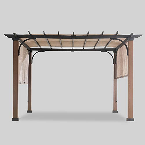 Sunjoy 110105005 Pergola, Black/Brown