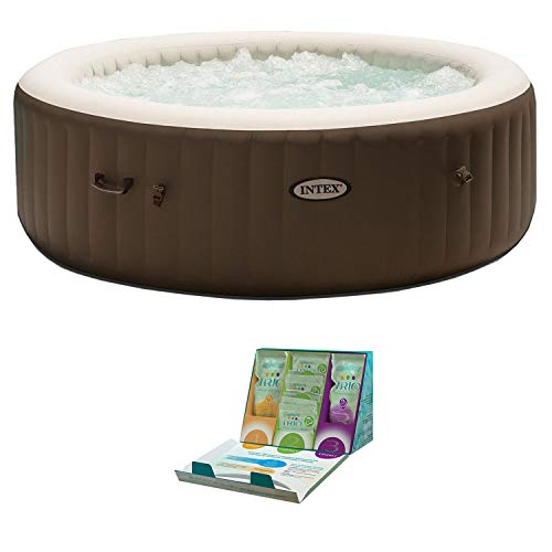 Intex PureSpa 6 Person Inflatable Hot Tub + SpaGuard 3 Month Water Softening Kit