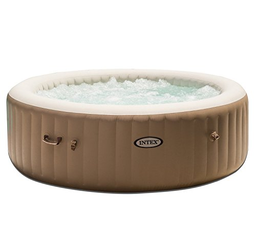 Intex Inflatable Pure Bubble Spa 6-Person Portable Heated Hot Tub & Cup Holder