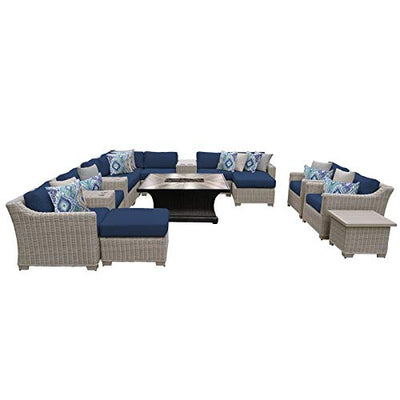 TK Classics COAST-17d-NAVY Coast Seating Patio Furniture, Navy