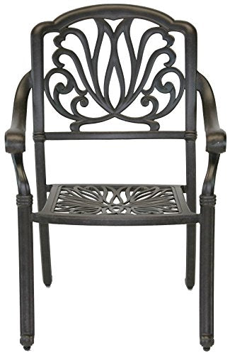 "Heritage Outdoor Living Elisabeth Cast Aluminum 9pc Patio Dining Set with 44""x84"" Rectangle Table - Antique Bronze"