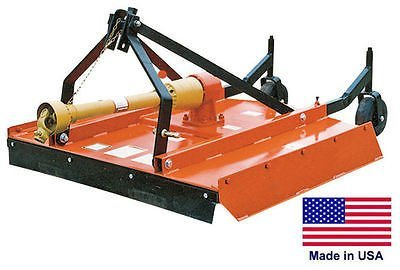 "Streamline Industrial FIELD & BRUSH MOWER Rotary Cutter - 3 Point Hitch Mounted - PTO Driven - 48"" Cut"