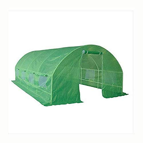 Greenhouse, Greenhouse Kit 10 x 20 Ft with Heavy Duty Steel Frame and Green PE Cover