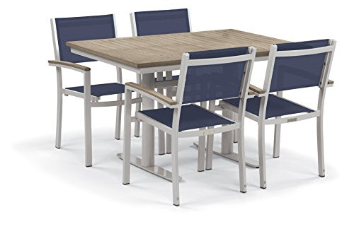 Oxford Garden 5348 Travira Light Weight Bistro Set with Table, Ink Pen