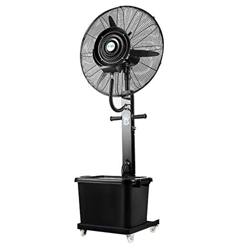 Standing Pedestal Fan Pedestal Fan Silent Oscillating Cooling Misting Spray Large for Outdoor Industry Business Humidifier 3-Speed/40L Water Tank /220W/ Height 190cm