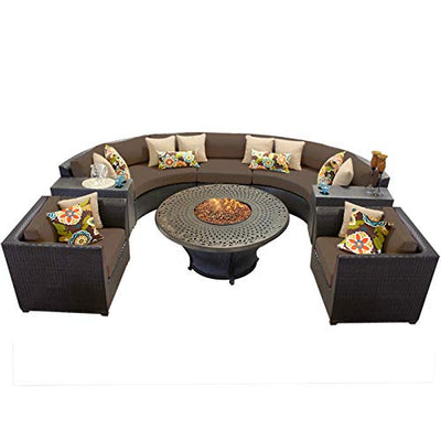 TK Classics BARBADOS-08i-COCOA Barbados 8Piece Outdoor Wicker Patio Furniture Set, Cocoa
