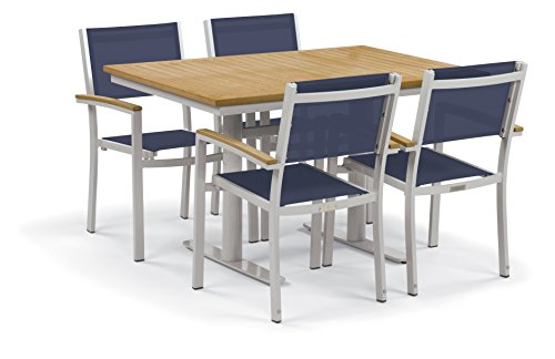 Oxford Garden 5353 Travira Light Weight Bistro Set with Table, Ink Pen