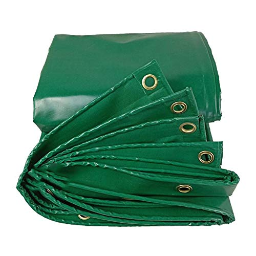 Dall Tarpaulin Multipurpose Heavy Duty 450g/m² Thickness 0.4mm Waterproof Outdoor UV Resistant Tear Resistance (Color : Green, Size : 6×10m)