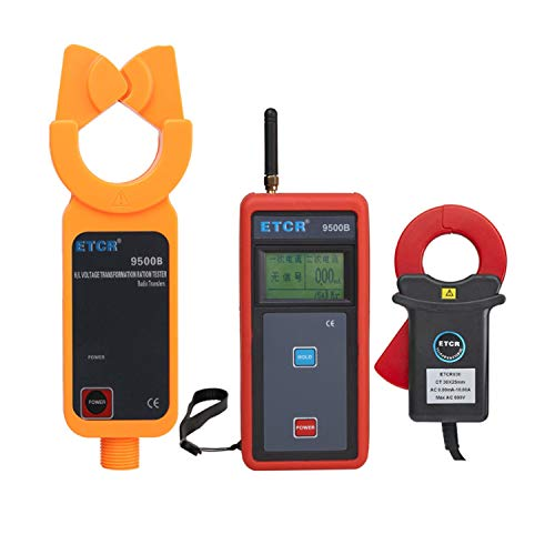 XINXI-MAO Safe Meter High Voltage Wireless Current Transformer Ratio Tester for Phase Polar Angle Difference Indication Meter ETCR9500B Practical Meter