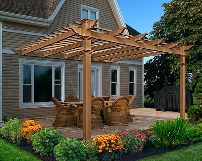 Kennedy 12' x 12' Attached Composite Pergola