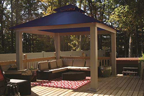 ACACIA 12ft x 12ft Gazebo Royal Navy OutDura Canopy