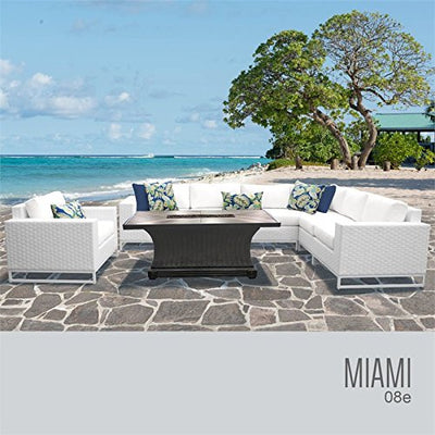 TK Classics MIAMI-08e Miami Seating Outdoor Furniture, Sail White