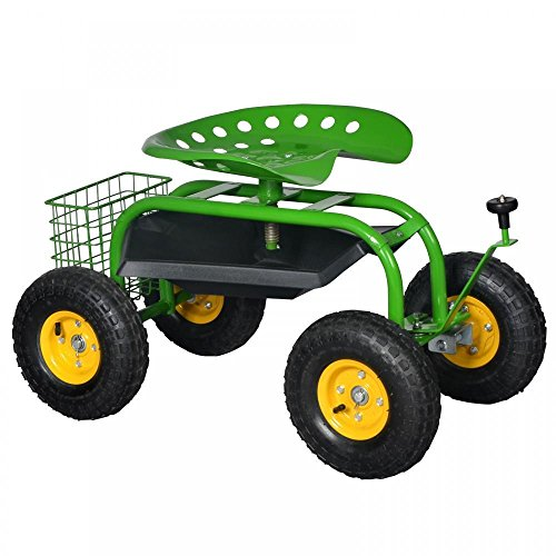 Generic O-8-O-3078-O t With Cart Rolling Work Seat Work S Planting Garden art Rol Green Heavy ing Gar With Tool Tray ardenin Duty Gardening HX-US5-16Mar28-1775