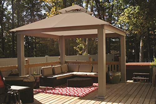 ACACIA 12ft x 12ft Gazebo Antique Beige OutDura Canopy