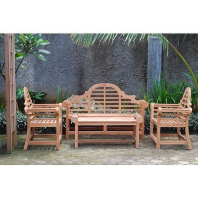 "Windsor's Premium Grade A Teak Lutyens 4pc Set,from Indonesian Plantations, 3 Seater Bench 65""/62 lbs, Two 36""/40lbs Chairs, 47""/40lbs Coffee Table,5 Yr Wnty , List $4600 -SAVE! Teak Lasts A Lifetime!"