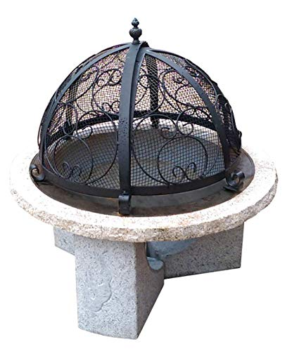 "Stone Age Creations 36"" Fire Pit with Granite Base/Legs (Without Mesh Dome)"
