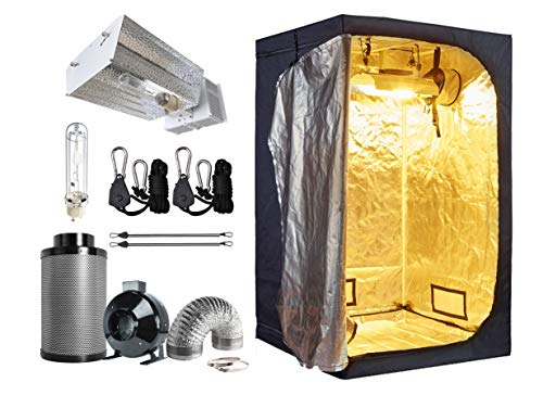 "GreenHouser Indoor Grow Kit with 48""X48""X78"" Grow Tent+CMH 315W Open Adjustable Reflector+6"" Inline Fan+6"" Filter Kit for Hydroponics Grow Plants System"