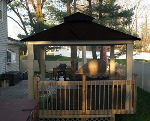 ACACIA 12ft x 12ft Gazebo Black OutDura Canopy