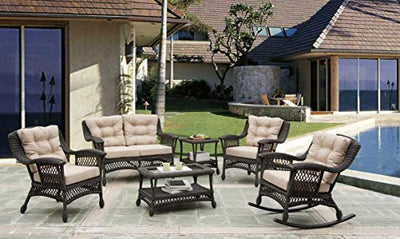 W Unlimited SW1404-SET 6-02 Outdoor Collection 6 PCs Furniture Set Black