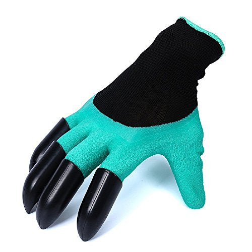 Meanch JAITY Garden Gloves with Left & Right Hand Fingertips ABS Plastic Claws for Pruning, Digging & Planting, One Pair