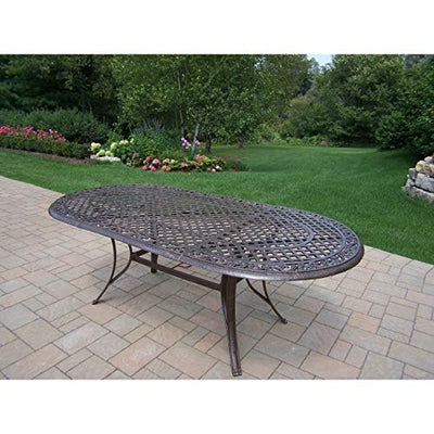 Oakland Living Corporation Dakota 11-Piece Outdoor Dining Set with Oval Table