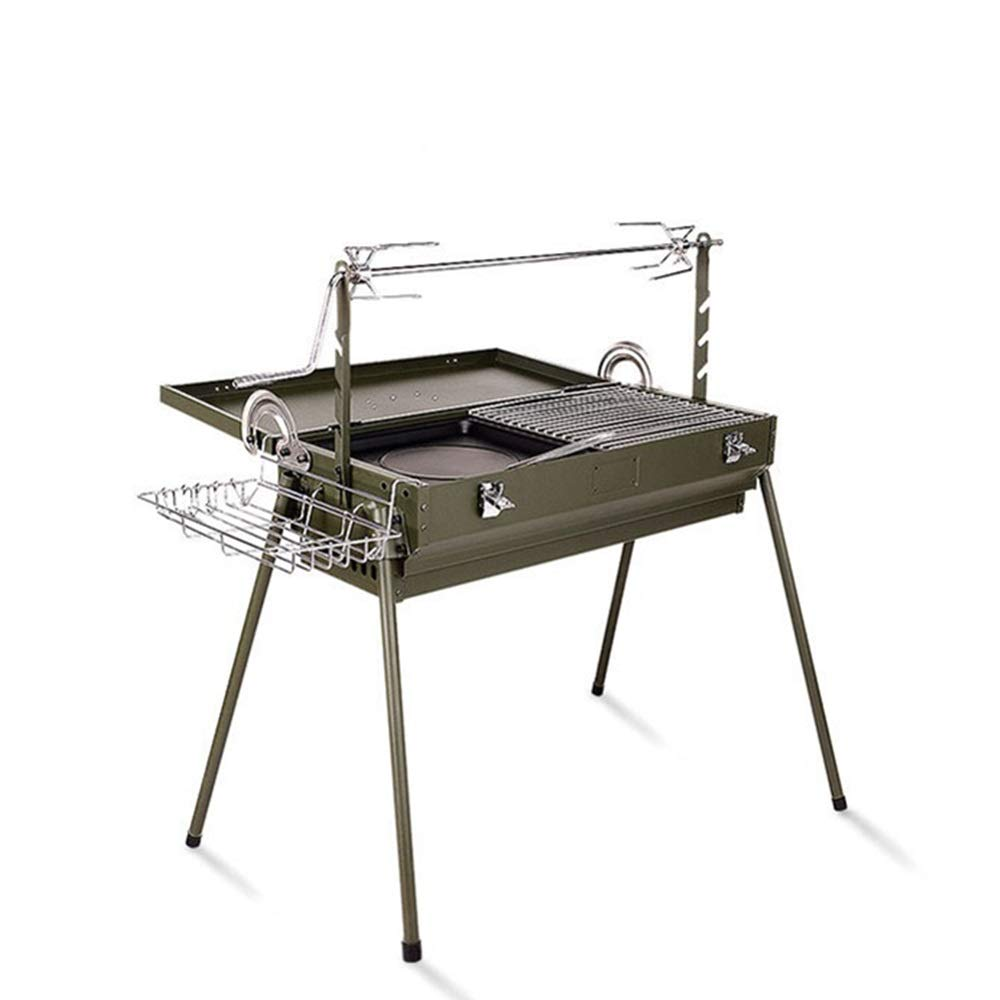 Charcoal grill portable barbecue Barbecue Charcoal Grill Folding Portable BBQ Tool Camping Cooking Grill Indoor Outdoor Picnic Patio Backyard Tailgating Steel Cooking Stainless steel folding grill