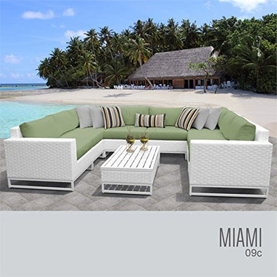 TK Classics MIAMI-09c-CILANTRO Miami Seating Patio Furniture, Cilantro