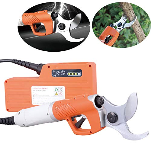 GTTBS-jd Electric Pruning Machine, Electric Pruning Shears Rechargeable Scisssors Home Gardening Cutting Tool Coarse Branches Cuttertool 30 Mm (Hard Branch) ~45 Mm (Soft Branch),Aset